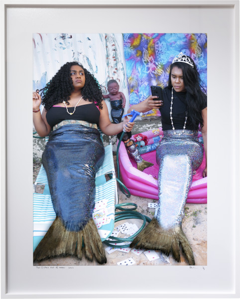 Destiny Deacon Two fishes out of water, 2017; lightjet print; 127 x 102 cm; (framed); Edition of 5 + 2 APs; enquire