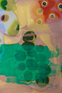 Dale Frank Santa Vittoria (detail), 2020; powder pigments in resin, epoxyglass, on Perspex; 150 x 100 cm; Enquire