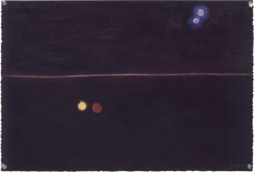 Fiona Foley Minmin Lights, 1992; pastel on paper; 56 x 38 cm; enquire