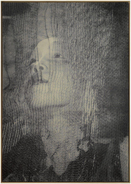 David Noonan Untitled, 2012; screen-printed jute and linen collage; 204 x 146 cm; enquire
