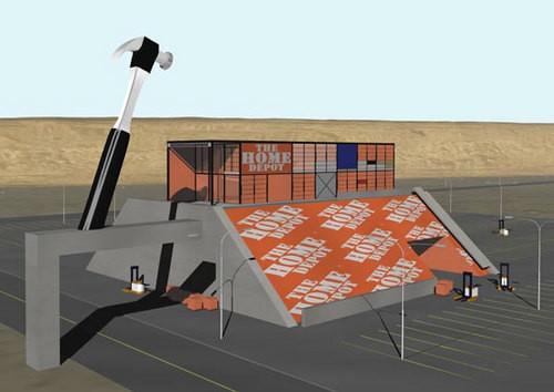 Callum Morton Eames Depot, Nevada, 2001; digital print; 79 x 125 cm; Image size: 59 x 84cm; Edition of 30; enquire