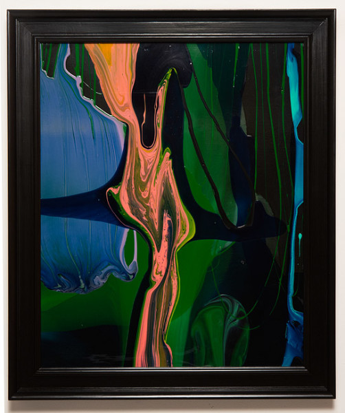 Dale Frank Conservative Institutional Beauty #6, 2013; Varnish on canvas; 87 x 74 cm; (framed); enquire