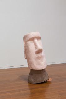 Mikala Dwyer Titling Head, 2018; fibreglass, ceramic, paint; 97 x 50 x 40 cm; Enquire
