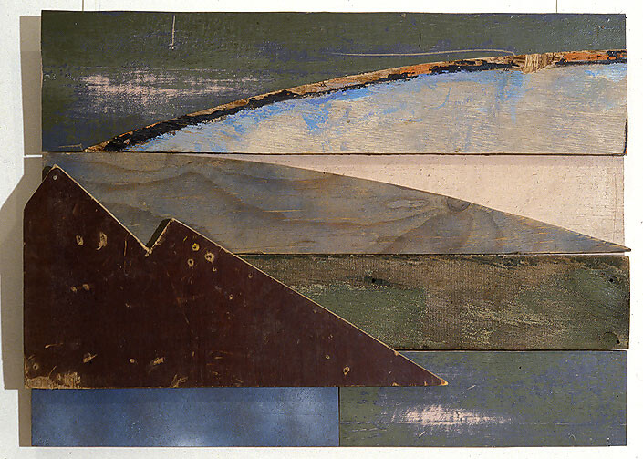 Rosalie Gascoigne Age of Innocence, 1993; plywood, wood and masonite; 61.5 x 83.5 cm; enquire