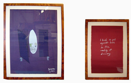 Jenny Watson My father's music, 2001; Stone lithographs on various fabrics, Lithographer: Muka Press, Auckland; 76 x 55 cm; 56 x 27 cm  set of 5 images (2 pieces each) edition of 20; Edition of 20; enquire