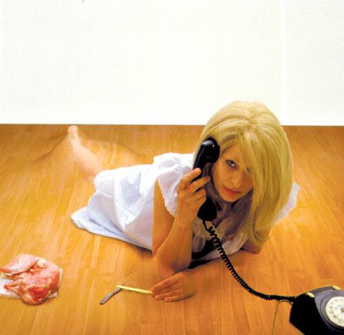 Julie Rrap Camouflage #5 (Catherine), 2000; type c colour photograph; 122 x 122 cm; Edition of 9; enquire