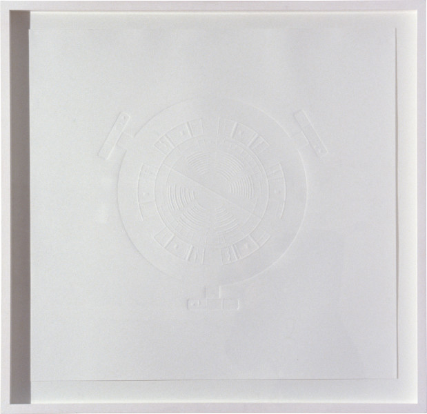 Langlands & Bell ONO City, 1992; blind embossed print; 71 x 74 cm; Edition of 65; enquire