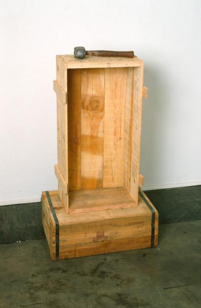John Nixon Self Portrait (Monument), 1988; wood and mallett; enquire