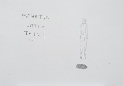 Tracey Emin Pathetic little thing, 1999; black ink on paper; 42 x 60 cm; enquire