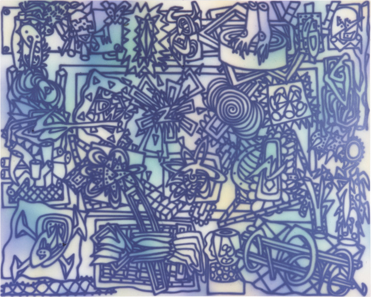 Howard Arkley Spot the Difference (B), 1983; acrylic on canvas; 160 x 250 cm; enquire