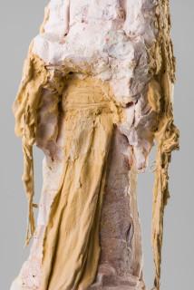 Linda Marrinon Poiret in fancy dress 1914 (detail), 2020; terracotta and plaster; 84 x 20 x 21 cm; enquire