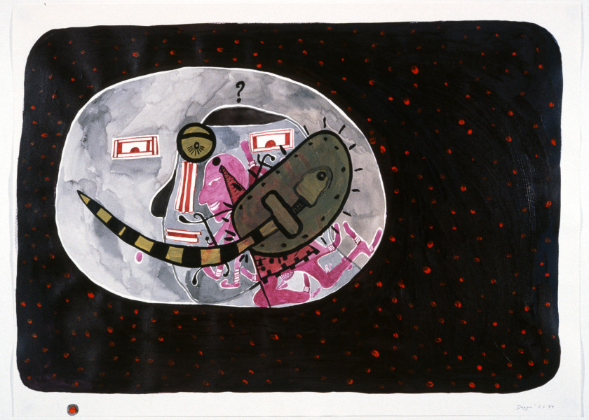Gareth Sansom Dagger, 1989; acrylic, ink and watercolour on paper; 56 x 76 cm; enquire