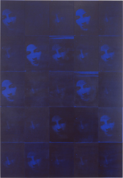 Lindy Lee A Glimpse of Being, 1997; acrylic and photocopy on Stonehenge paper on board; 205 x 142.5 cm; 25 panels; enquire