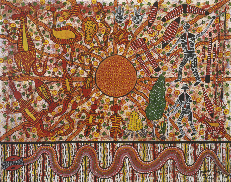 Robert Campbell Jnr Cry of Asia, 1989; acrylic on canvas; 223 x 283.5 cm; enquire