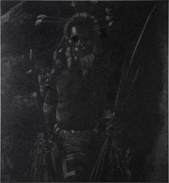 Daniel Boyd Untitled (NHC2), 2013; oil, pastel and archival glue on linen; 198.5 x 183 cm; enquire