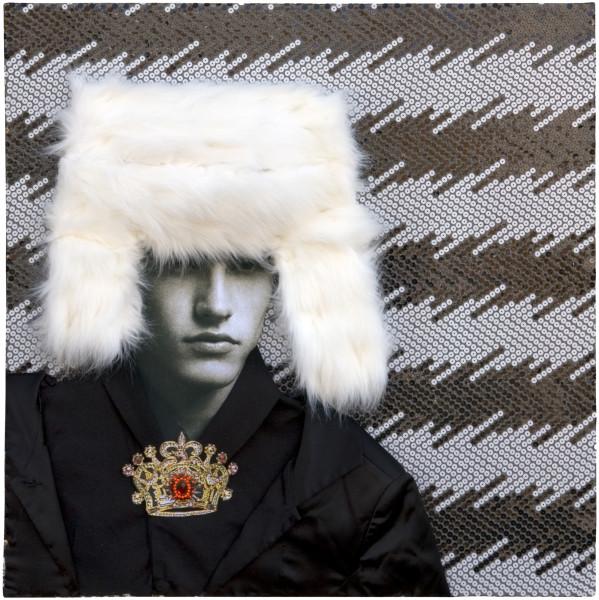 "Jacqueline Fraser ""A B-Grade Gavin Turk is not a good look"", 2007; mixed media; 77.5 x 77 x 16 cm; enquire"
