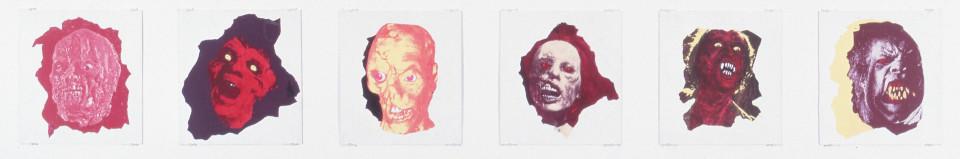 Maria Kozic Portraits of the Eighties, 1987; acrylic on board; 46 x 42 cm; enquire