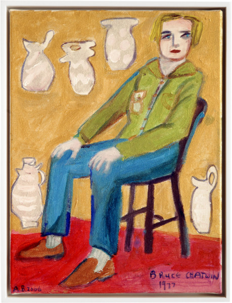 Angela Brennan Portrait of Bruce Chatwin, 1977, 2006; acrylic on canvas; 41 x 30.5cm (unframed), 43 x 33cm (framed); enquire