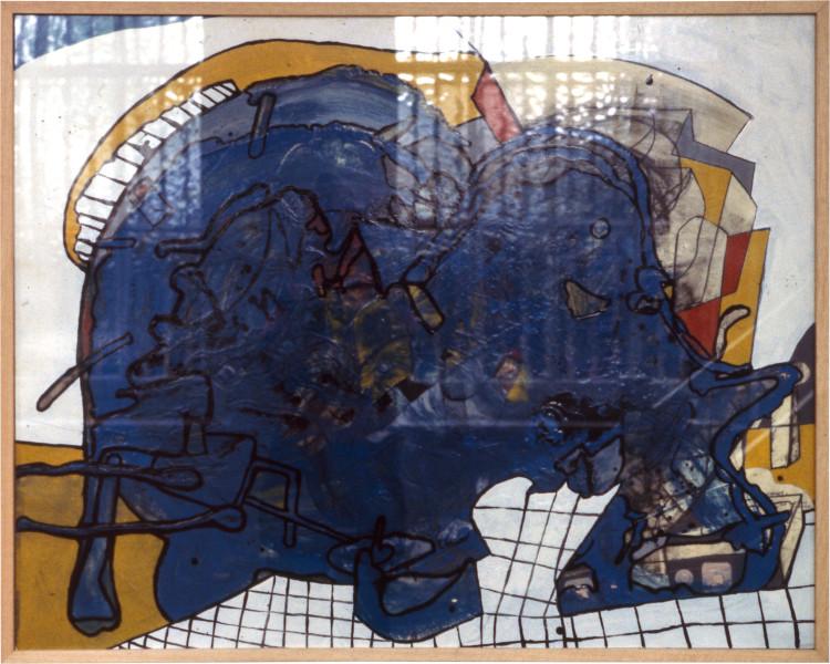 Gareth Sansom Animal, 1977; mixed media on cardboard; 82 x 102 cm; enquire