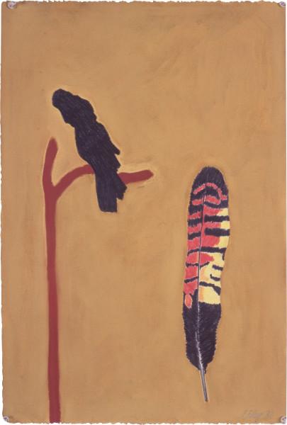 Fiona Foley Black Cockatoo, 1992; pastel on paper; 56 x 38 cm; enquire