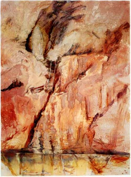 Mandy Martin II Gruta, 2002; oil, ochre & pigment on linen; 244 x 180 cm; enquire
