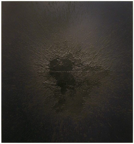 Lindy Lee Dark Star, 2006; acrylic, oil, wax on board  ; 4 panels, 162cm x 150cm; enquire