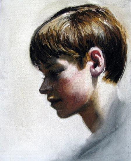 Louise Hearman Untitled #1061, 2005; pastel on coloured paper; 32 x 25 cm; enquire