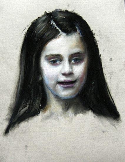 Louise Hearman Untitled #1067, 2005; pastel on coloured paper; 32 x 25 cm; enquire