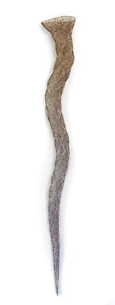 Bronwyn Oliver Filament, 2002; copper; 200 x 28 x 22 cm; enquire