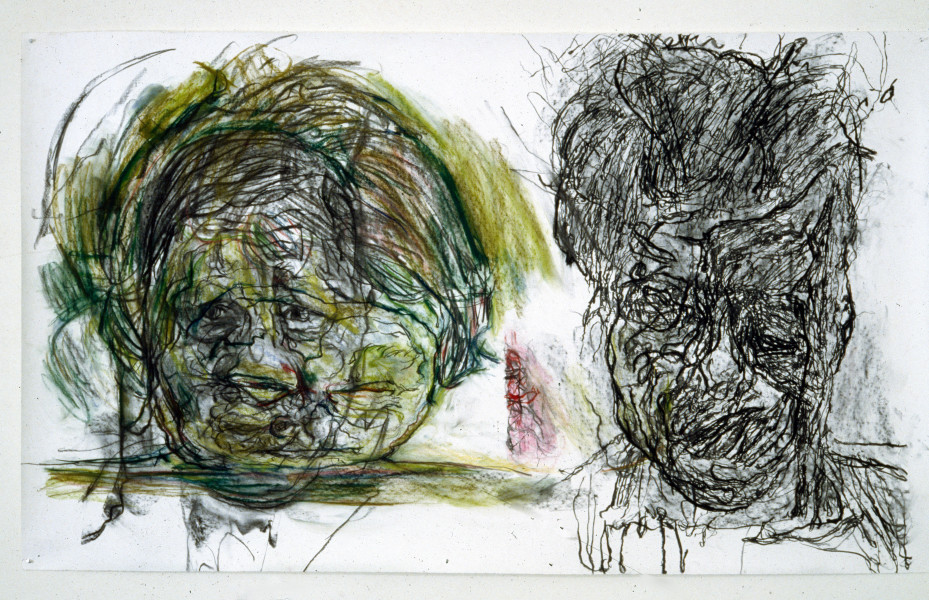 Mike Parr The Window (Blindness), 1987; Girault pastel, fat & charcoal on Tamaroll paper; 127 x 202.5 cm; enquire