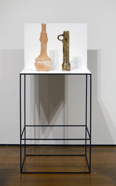 Sanne Mestrom Composition 2, 2013; bronze, ceramic, steel, enamel; 150 x 70 x 60 cm; enquire