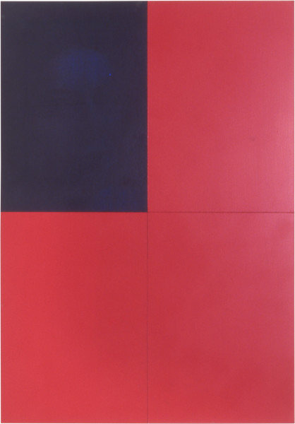 Lindy Lee Uji, 1999; Oil, acrylic, wax and photocopy on Stonehenge paper on board; 82 x 57 cm; 4 panels; enquire