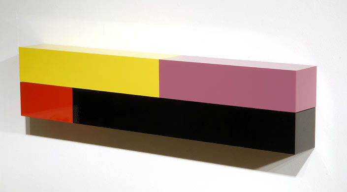 Michael Parekowhai Atarangi #3, 2004; two pot paint + aluminum; 20 x 90 x 10 cm; enquire
