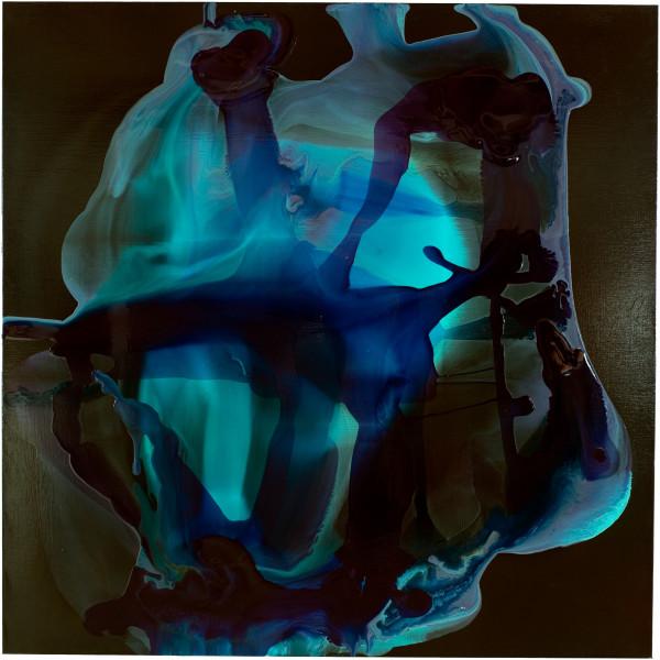 Dale Frank Phlomis Fruticosa Pennisetum Gresford Road Babbit, 2008; varnish on canvas; 200 x 200 cm; enquire