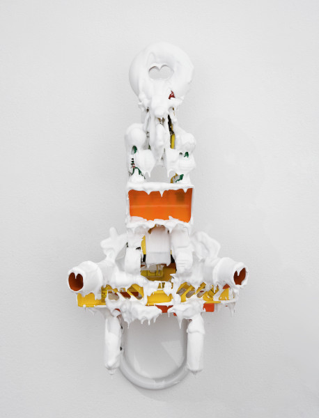 Teppei Kaneuji White Discharge (Built-up Objects #26), 2013; found objects, resin, glue; 71 x 25 x 27 cm; enquire
