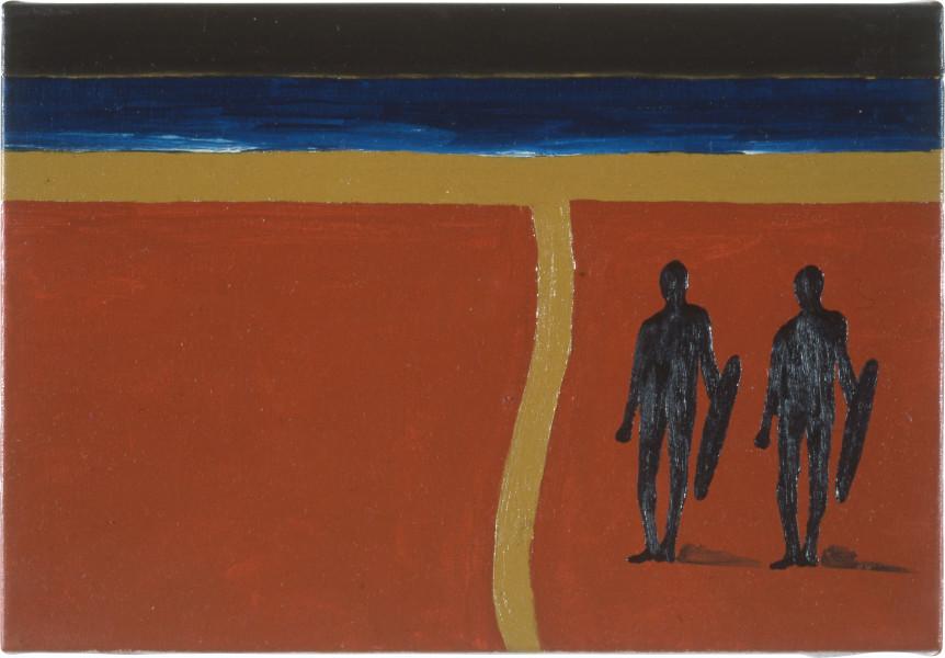 Fiona Foley Thoorgine Country II, 1991; oil on canvas; 26 x 38.5 cm; enquire
