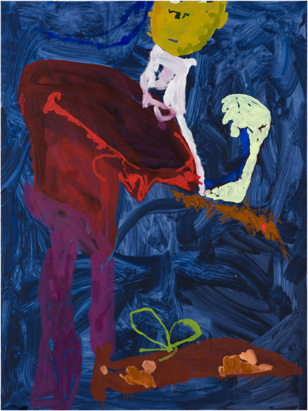 Tom Polo the edge of envy, 2021; acrylic and Flashe on canvas; 182 x 138 cm; enquire