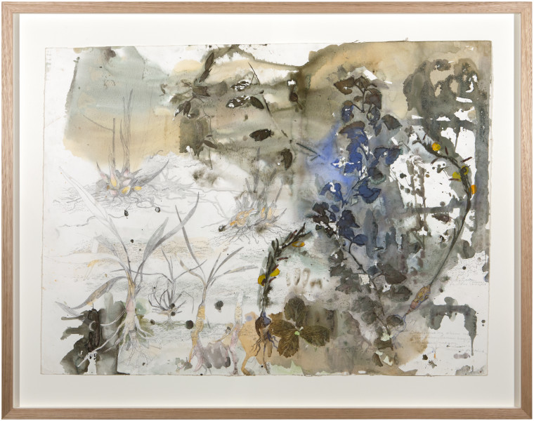 John Wolseley Ritharr and Dhunguruk, 2015; watercolour and graphite on paper; 93 x 118 cm; enquire