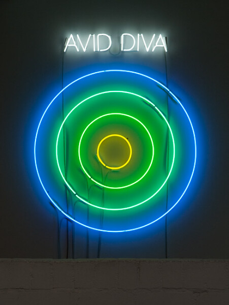 Newell Harry Circle/s in the Round: AVID DIVA, 2010; neon; 135 x 110 x 5 cm; Edition of 5 + AP 2; enquire