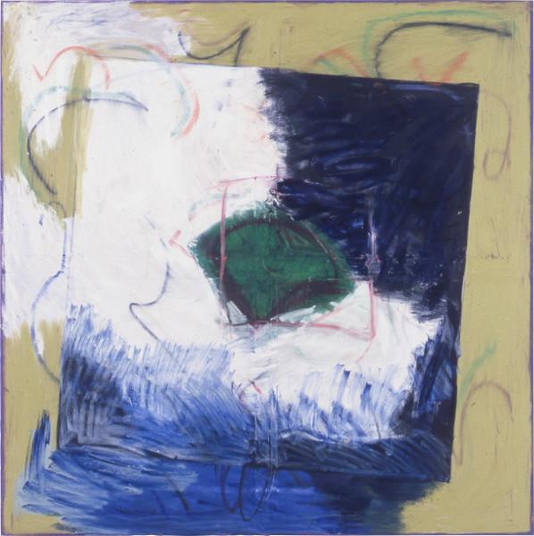 Denise Green Riverside, 1986; oil, paint stick on canvas; 165 x 165 cm; enquire