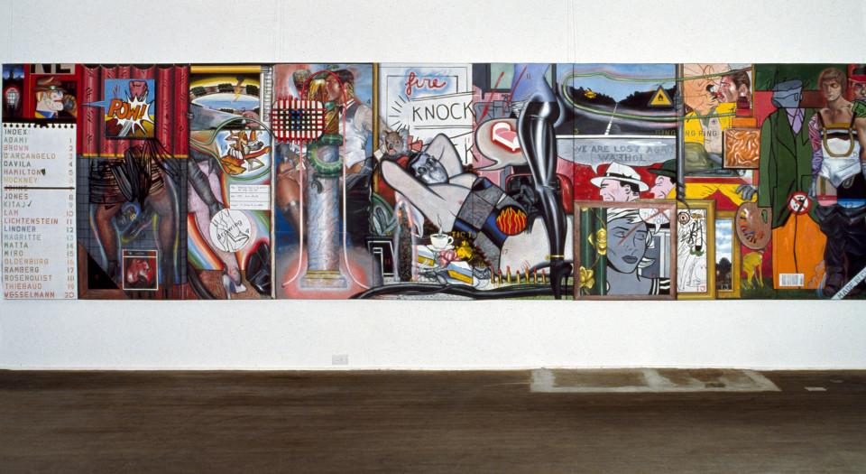 Juan Davila Hysterical Tears, 1979; acrylic on canvas; 177 x 668 cm; enquire