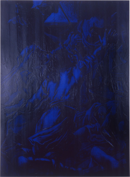 Lindy Lee Without Providence, 1989; oils and wax on canvas; 192 x 142 cm; enquire
