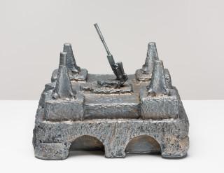 Fiona Hall Castles of Lost Destinies, 2015; Cat no. 18; Bronze; 19 x 25 x 25 cm; enquire