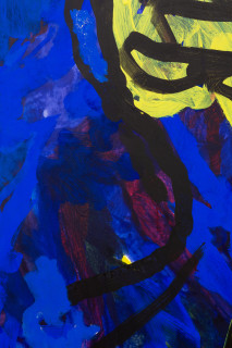 Tom Polo building bodies (detail), 2021; oil, acrylic and Flashe on canvas; 182 x 138 cm; enquire