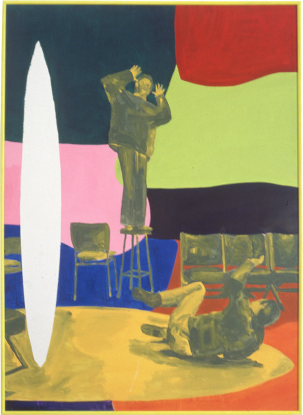 Geoff Lowe Ready Steady Go, 1990; synthetic polymer paint on linen; 154 x 124 cm; enquire