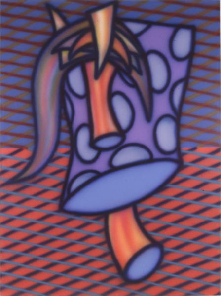Howard Arkley Strange Fruit, 1987; acrylic paint on canvas; 160 x 122 cm; enquire