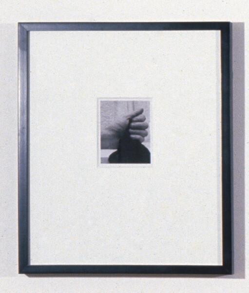 Robert Mapplethorpe Untitled (Hand), 1973; Polaroid; 13 x 10.5 cm; enquire