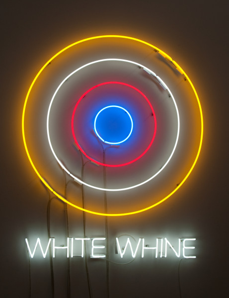Newell Harry Circle/s in the Round: WHITE WHINE, 2010; neon; 135 x 110 x 5 cm; Edition of 5 + AP 2; enquire