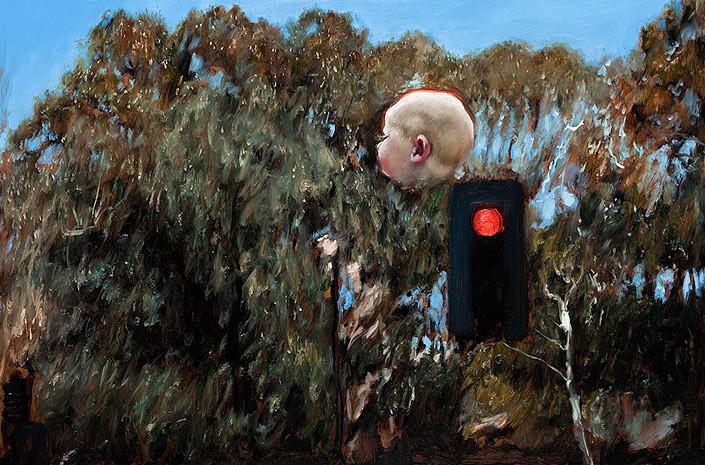 Louise Hearman Untitled #1317, 2008; oil on masonite; 61 x 91.5 cm; enquire