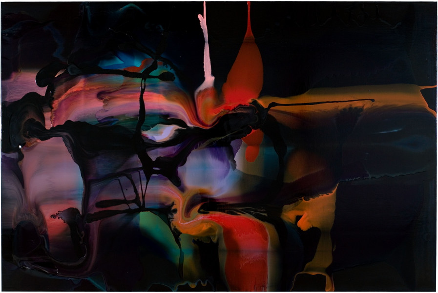 Dale Frank The strength of his painting lay in the weakness of his Sciatic nerve, 2008; varnish on canvas; 200 x 300 cm; enquire